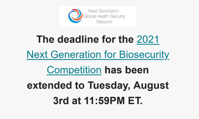 2021 NEXT GENERATION FOR BIOSECURITY COMPETITION